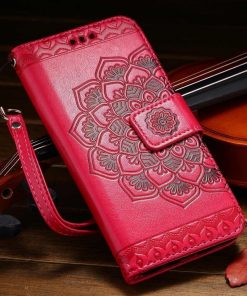 Flower Leather Cover Flip Magnetic Cover
