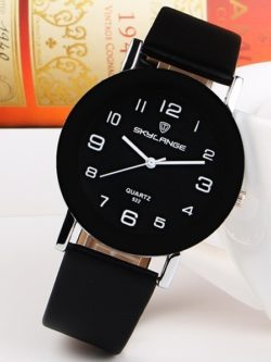 Simple White Leather Watch