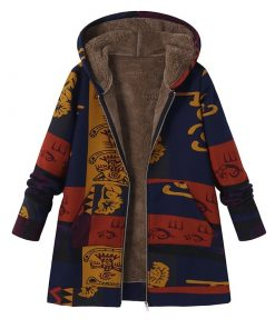 Hooded Long Sleeve Fluffy Fur Fleece Coat Outwear