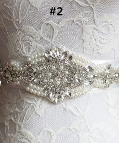 Clear Rhinestone Beadwork Bridal Belt