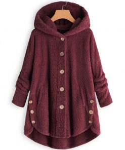Fleece Hooded Loose Fit Soft Warm Coat