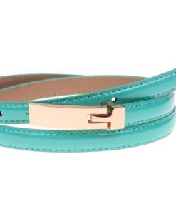 Cowskin Leather Thin Female Belt
